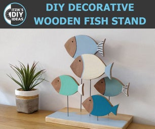 DIY Decorative Wooden Fish Stand