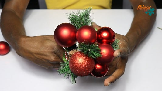 Paste Christmas Balls Onto Cover