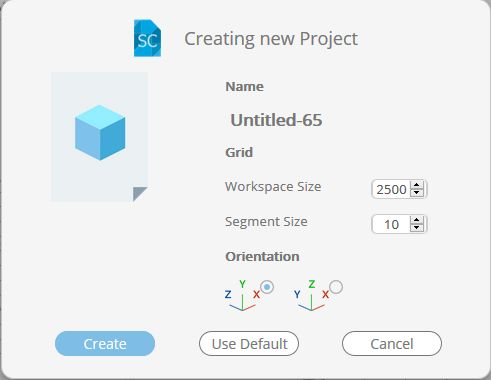 Picture of Create a New Project