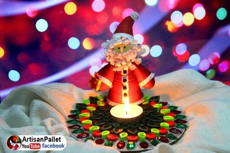 DIY Christmas Candle Holder