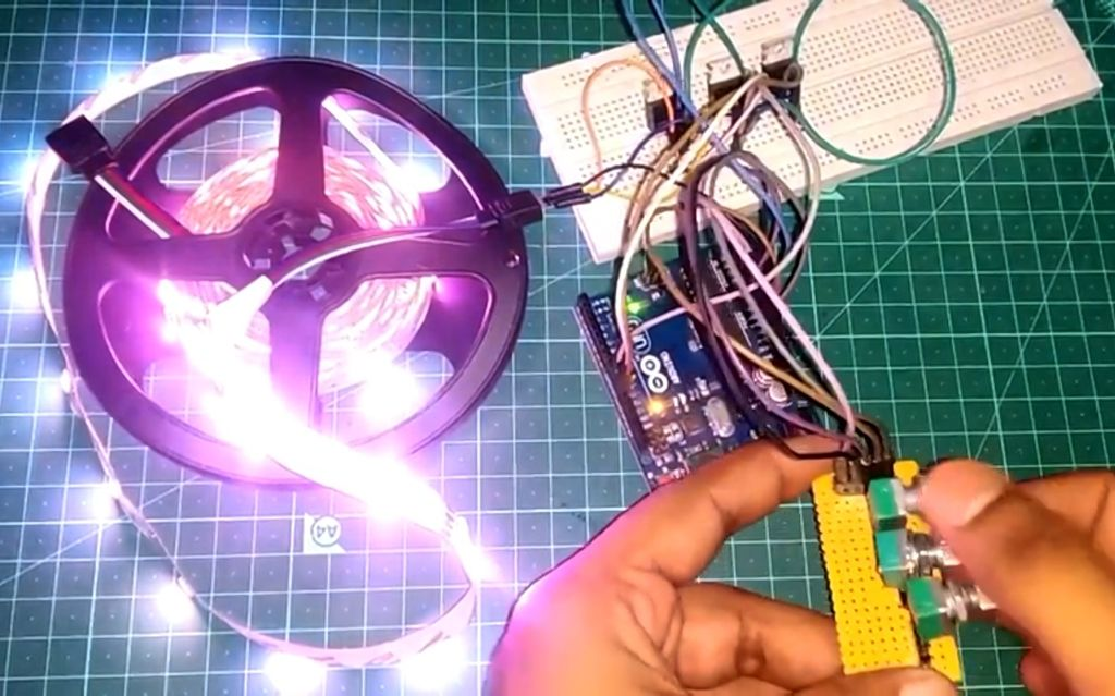 Picture of Driving RGB LED Strip Using Arduino
