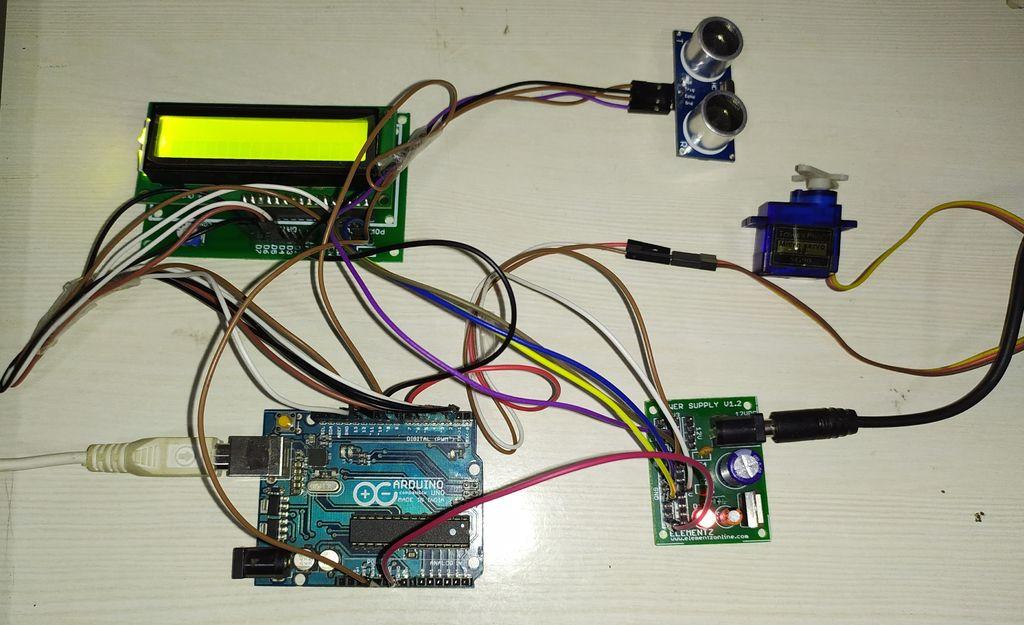 Picture of ULTRASONIC RADAR SYSTEM USING ARDUINO