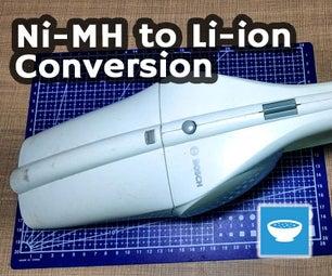 Vacuum Cleaner Ni-MH to Li-ion Conversion