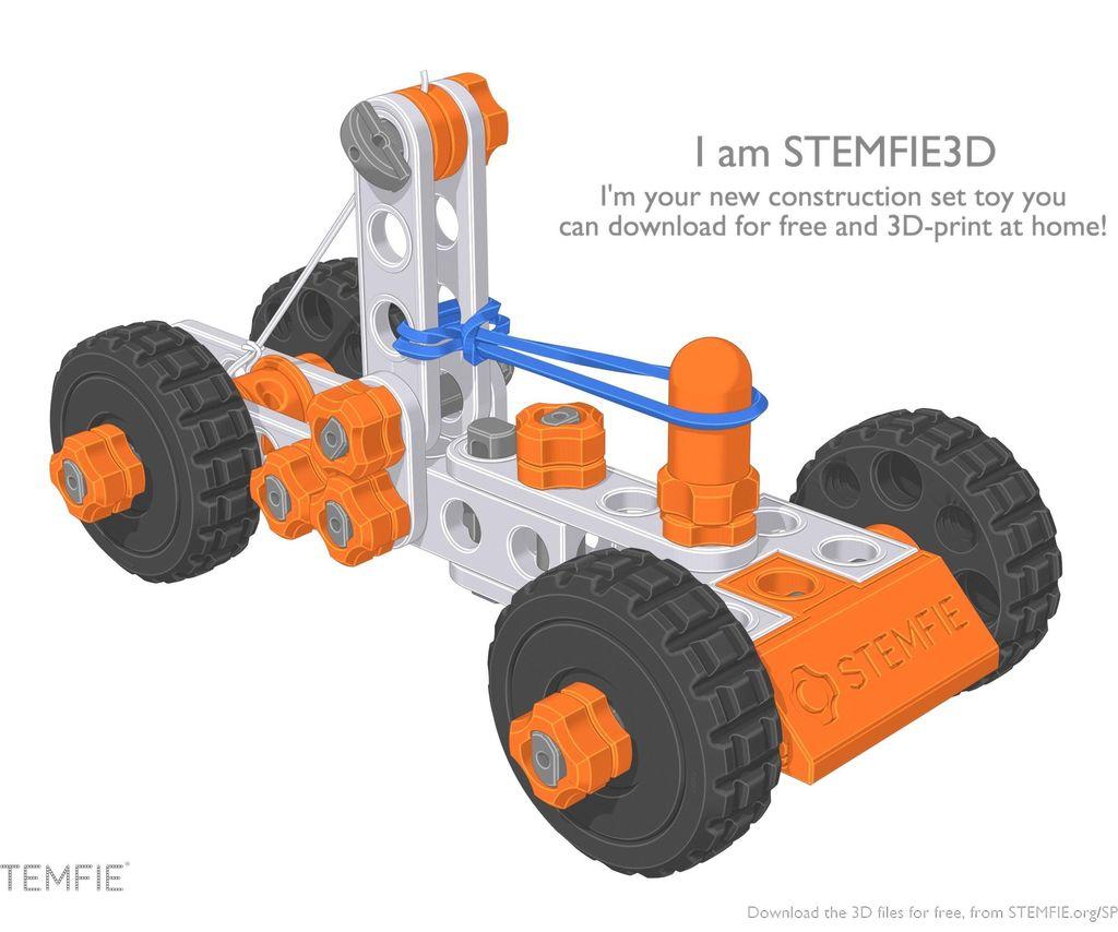 STEMFIE Rubber Band-driven Car