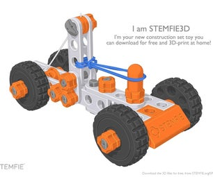STEMFIE Rubber-Band-Driven Car