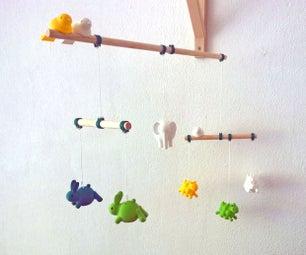 3D打印婴儿移动和如何动物模型