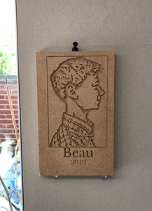 Simple CNC Carved Profile Portraits