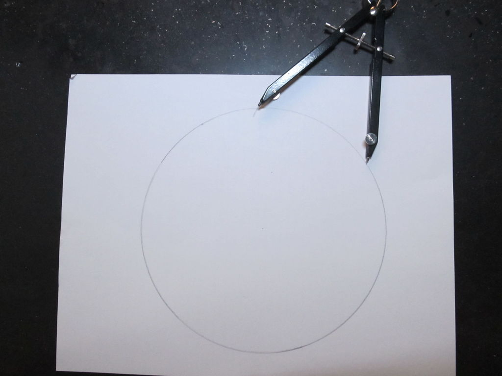 Picture of Instruction on Creating a Hexagon From a Circle