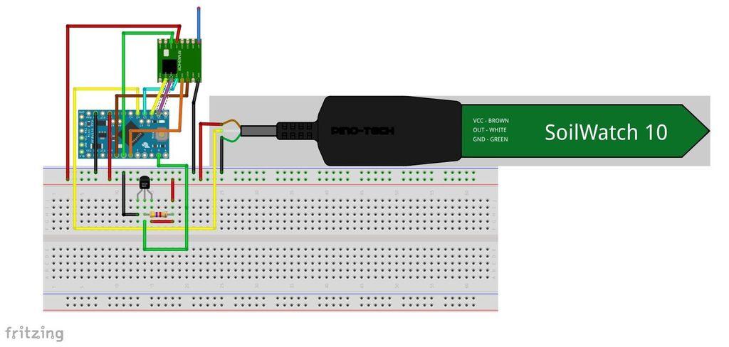 Picture of LORA Temperature and Soil Moisture Sensor