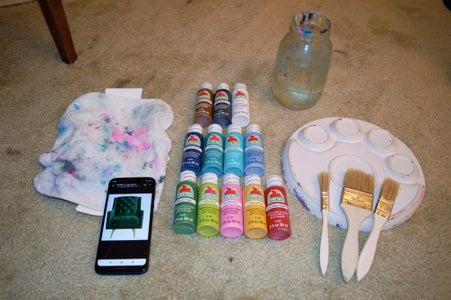 Gather the Paint Supplies