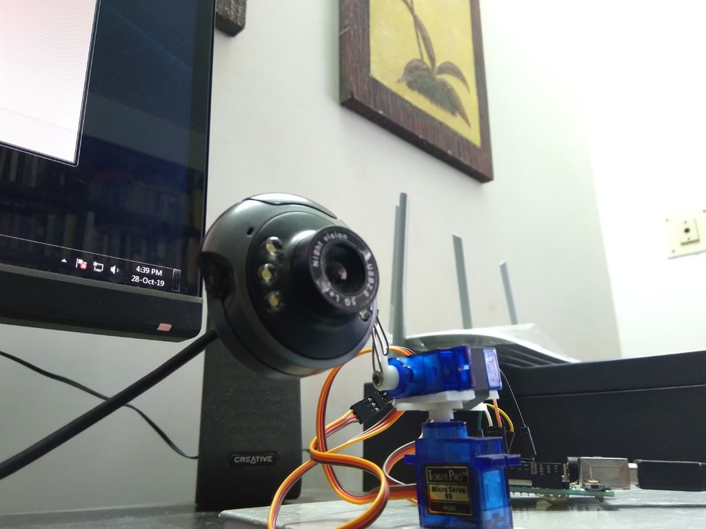 Picture of Face Tracking Device! Python & Arduino
