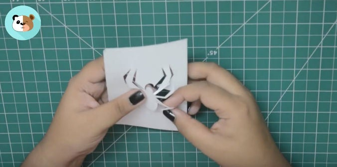 Picture of Cut Out the Spider With Paper Cutter