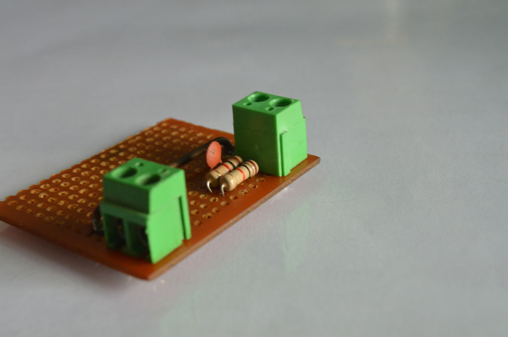 Picture of Adding the Parts for the Voltage Sense Network