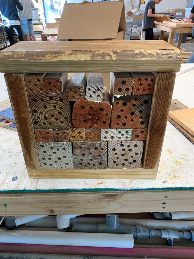 Picture of Bee Hotel Made by Student
