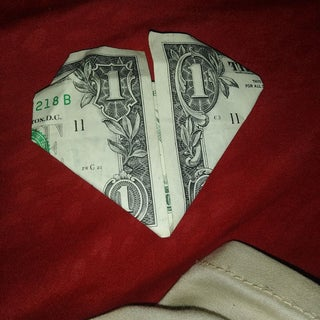 Dollar Bill Origami HEART | How to Fold Heart out of Money ... | 320x320