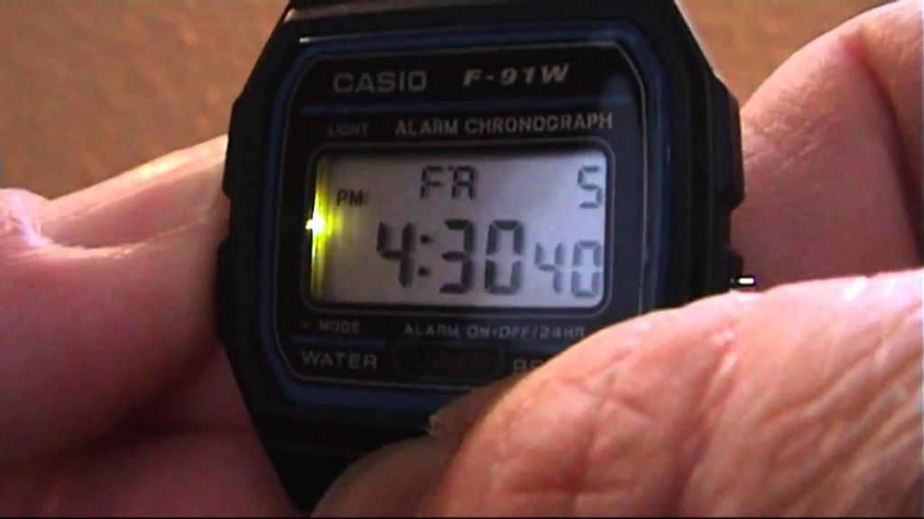 Picture of Casio F91W Backlight Mod