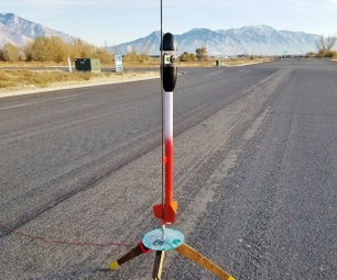 Model Rocket With GoPro Nose Cone