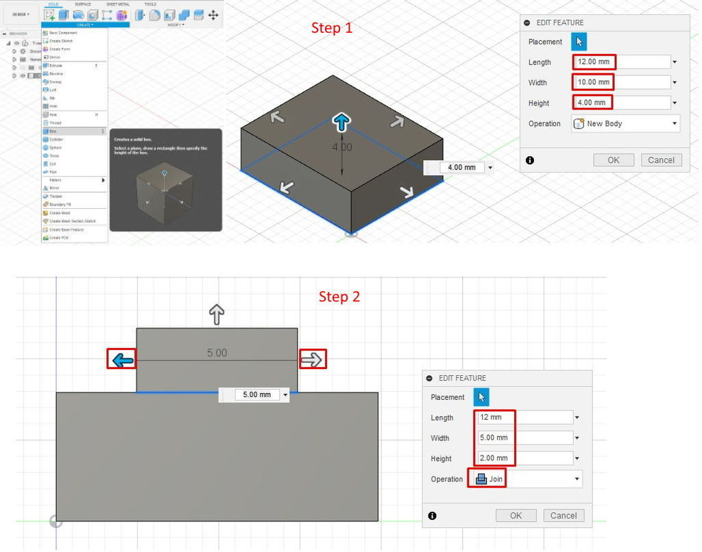 Picture of Quick Object Creation in Design Workspace
