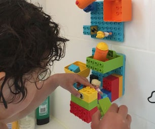 Make Bath-Times More Fun! - Building Bricks on Your Bathroom Tiles