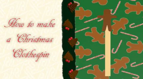Picture of DIY How to Make a Christmas Clothespin   the Mustard Seed Life