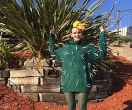 Easy No-Sew Cactus Costume