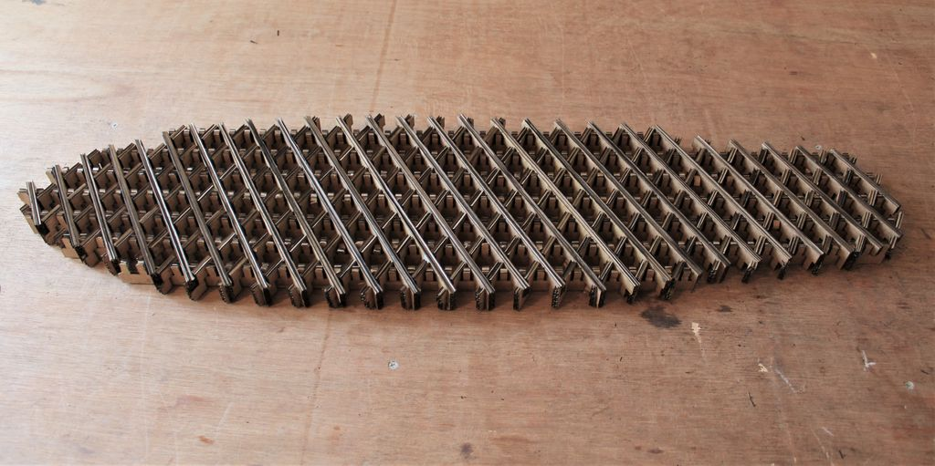 Picture of Fully Assembled Cardboard Core
