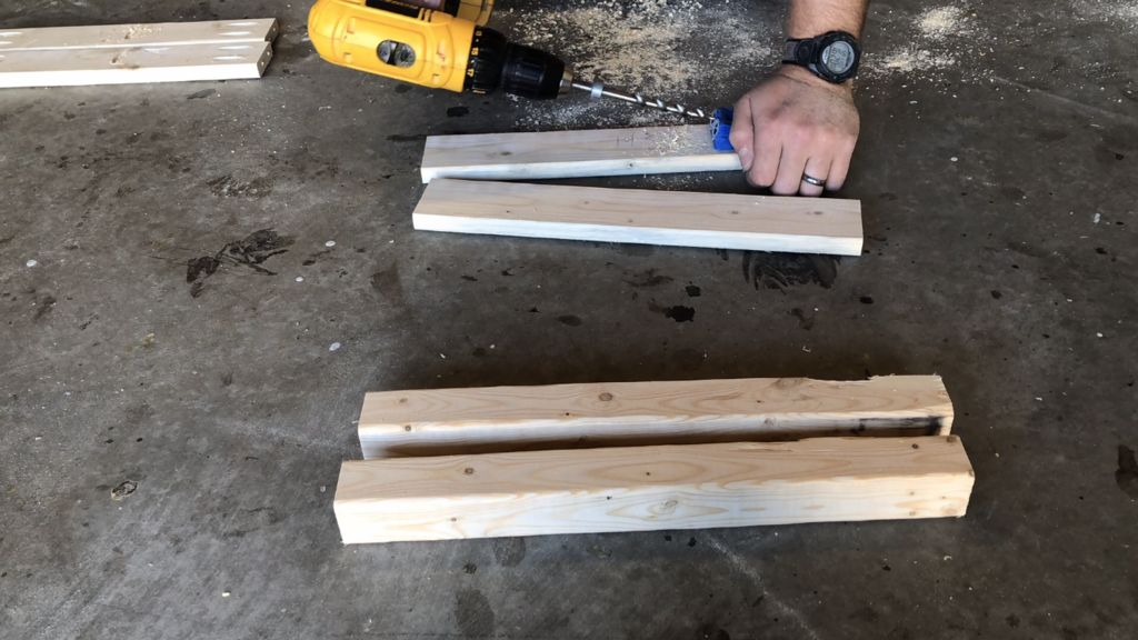 Picture of Drill the Following Pocket Holes in the Previously Cut Lumber