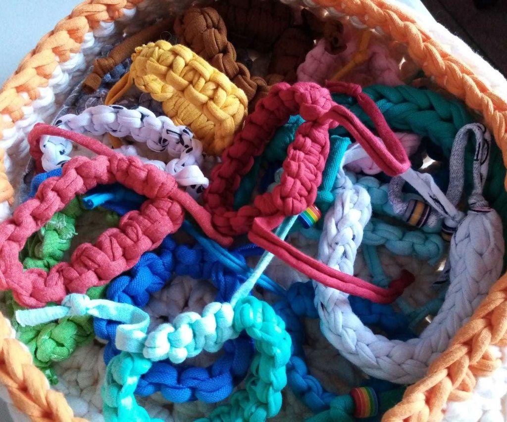 Recycled Macrame Bracelets