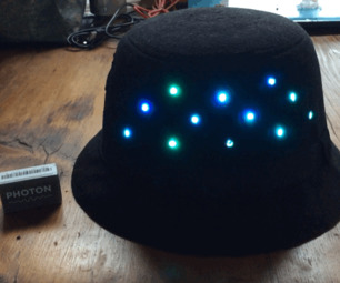 CheerLights Internet-Connected Hat (with Particle Photon)