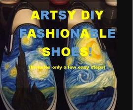 Artsy DIY Fashionable Shoes