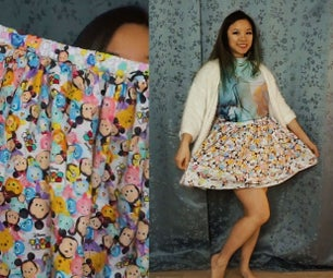 How to Make DIY Gathered Skirt With Elastic