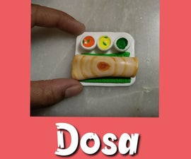 Miniature Dosa Fridge Magnet From Clay
