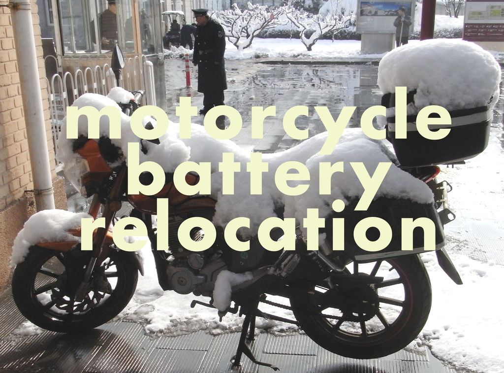 Picture of Motorcycle Battery Relocation
