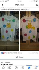 Instruction on Making Pudsley Bear T Shirts