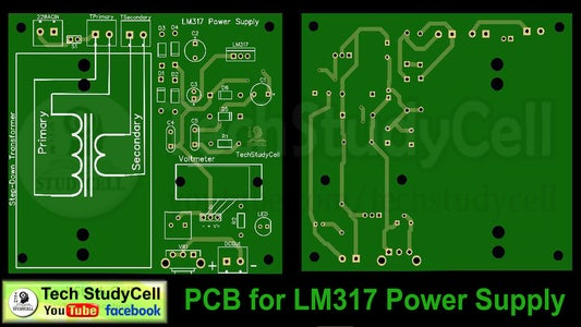 PCB for LM317 Power Supply Circuit