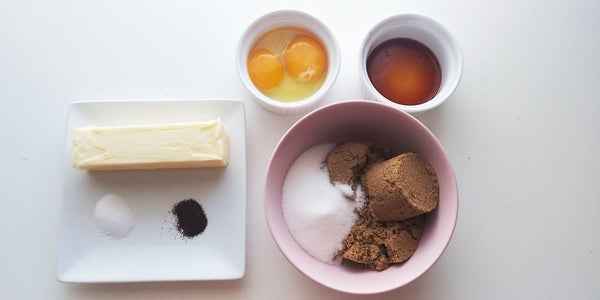 Ingredients for the Chocolate Cookie