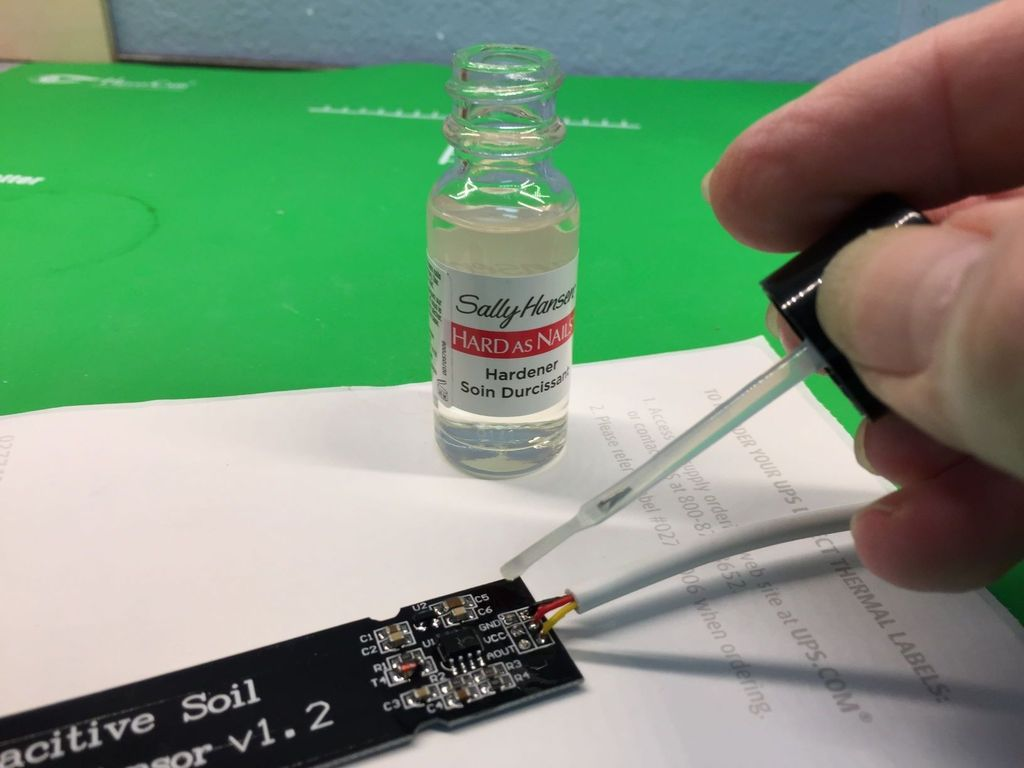 Picture of Apply Lacquer (nail Polish) to Exposed Circuits