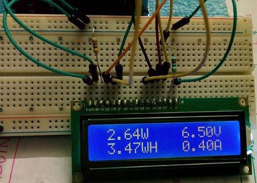 Picture of After Implementation Arduino Wattmeter