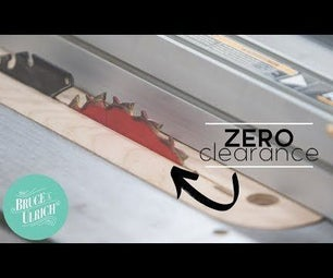 ZERO CLEARANCE INSERT FOR TABLE SAW