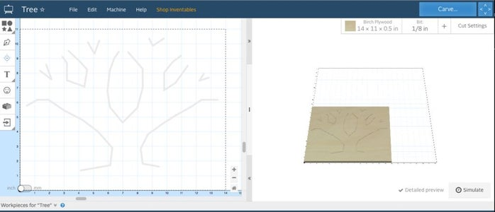 Using Easel to Design Tree