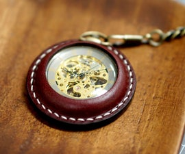 Pocket Watch Leather Case