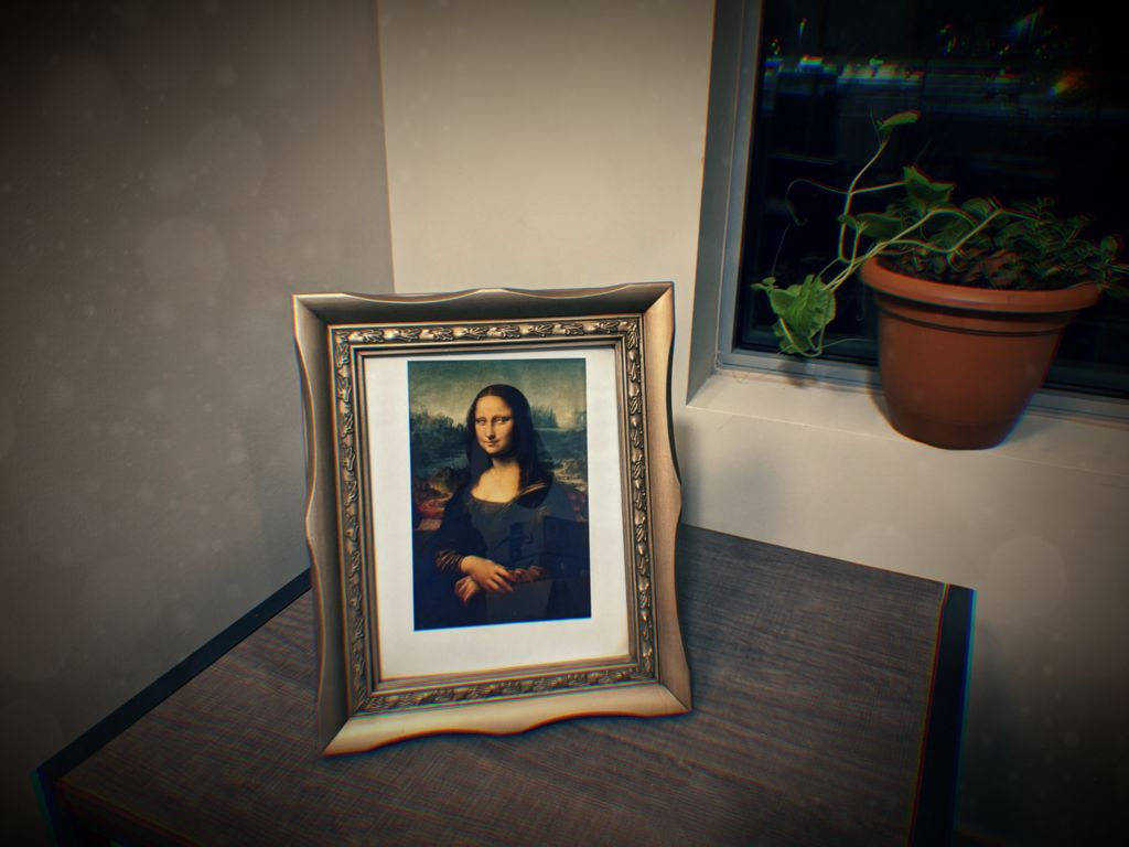 Picture of Spooky Mona Lisa Painting