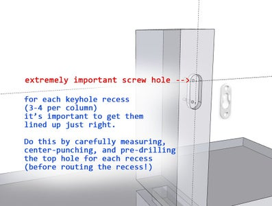 Route Recesses for Keyhole Hardware