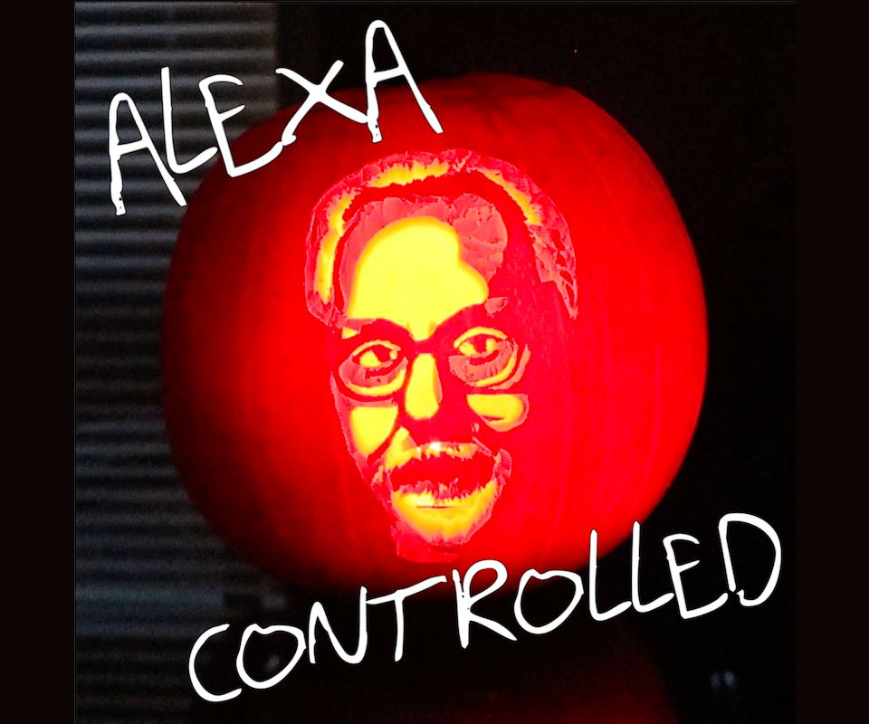 Picture of Alexa-controlled Adam Savage Pumpkin