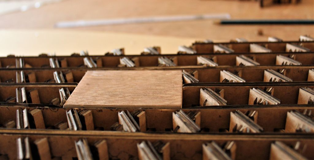 Picture of Creating the Reinforcement Wooden Pieces