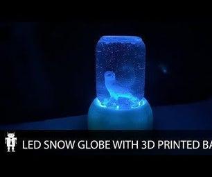 LED Mason Jar Snow Globe