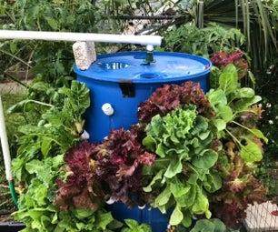 气雾栽培法桶花园