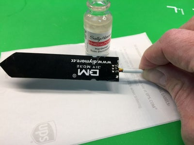 Apply Lacquer (nail Polish) to Exposed Circuits