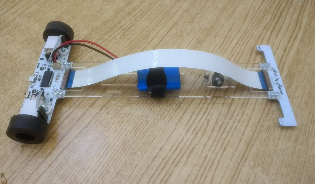Picture of Line Follower Robot for Teaching Control Algorithms