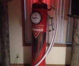 VINTAGE STYLE CLOCK FACE GAS PUMP CLOCK